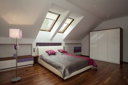 Warm insulation attic space